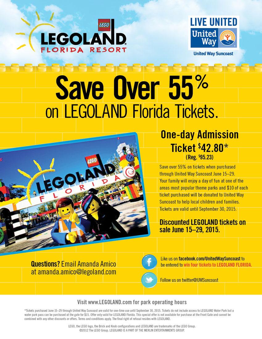 build big savings again on tickets to legoland florida united way suncoast. Black Bedroom Furniture Sets. Home Design Ideas