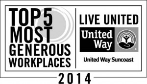 5 Most Generous Workplaces 2014