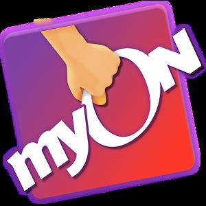 MyON! logo of a hand supporting the myON! program