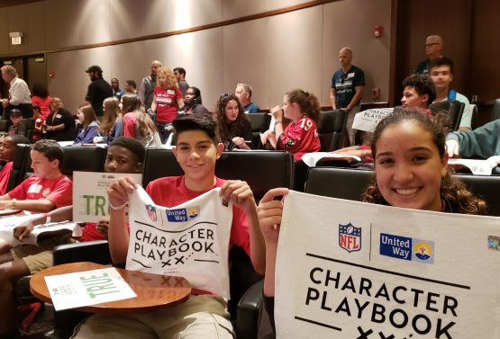 Tampa Bay Buccaneers and United Way Suncoast Celebrate Character Playbook