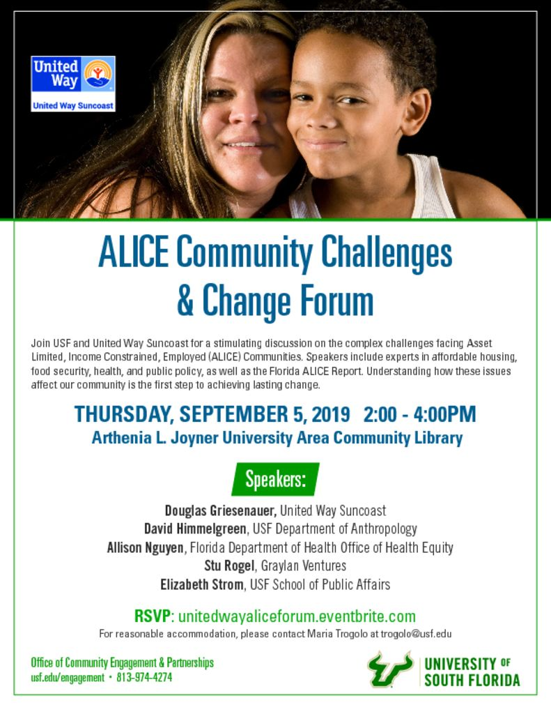 thumbnail of USF UWS ALICE Community Challenges Change Forum – 9.5.19