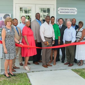Ribbon cutting for Earl & Mary Watts After-school program