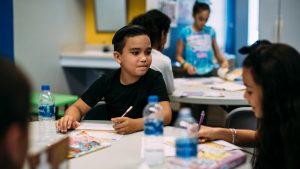 Children enjoying the United Way Reading Room.